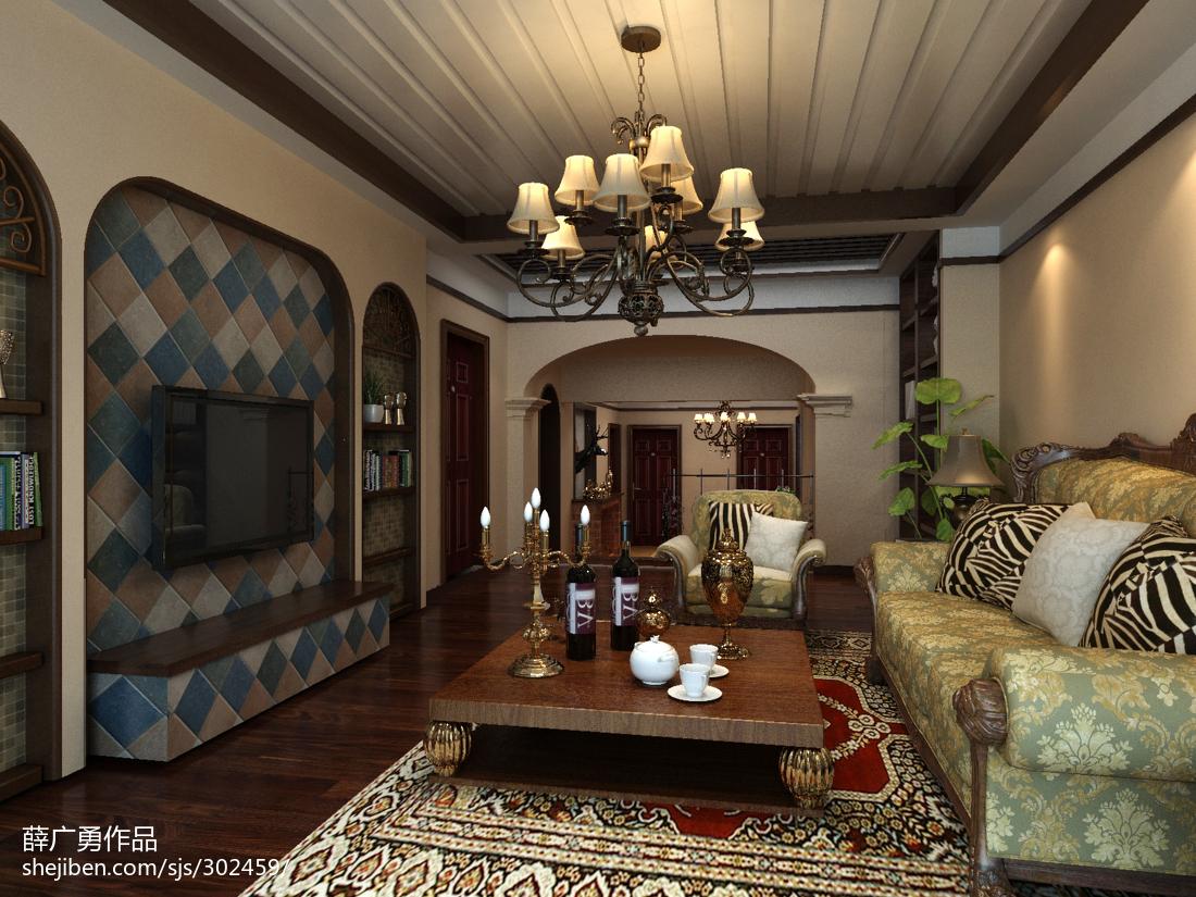 美式乡村风格设计室内书房效果图片