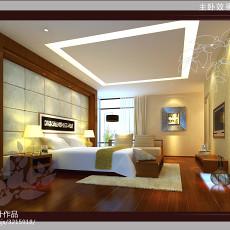 热门面积138平别墅卧室现代实景图片欣赏