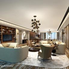 精美面积127平别墅客厅现代装修图片欣赏