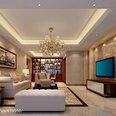 2018精选115平米现代别墅客厅效果图片欣赏