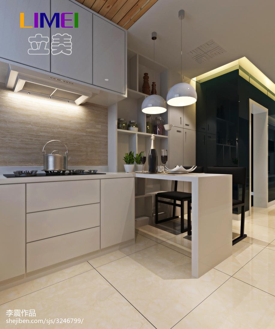 2018精选面积83平现代二居厨房装修欣赏图片大全