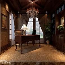 103平米三居书房美式效果图