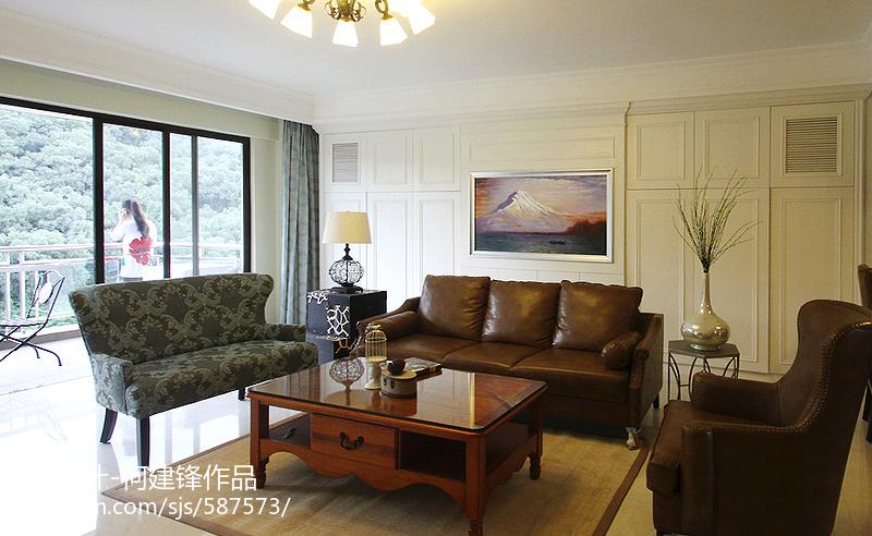 2018精选122平米四居客厅美式装修效果图
