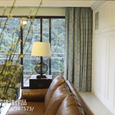 2018110平米四居客厅美式装修设计效果图片