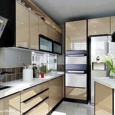 面积95平现代三居厨房欣赏图片