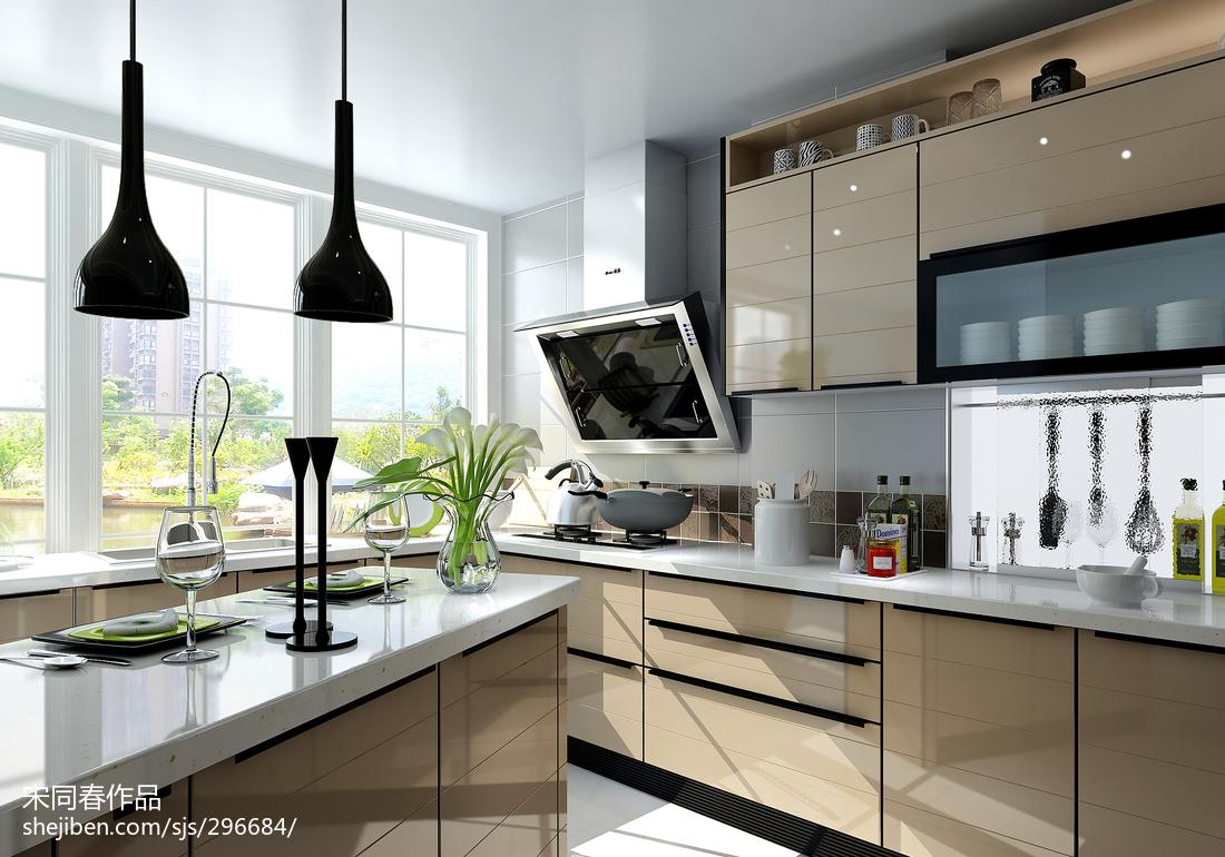 精选三居厨房现代装修实景图