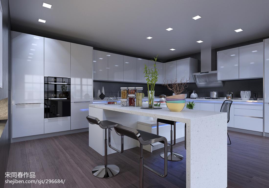 精美面积92平现代三居厨房装修图