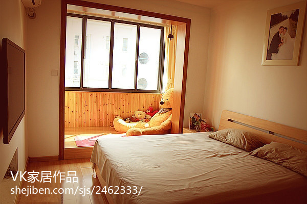 201883平米现代小户型卧室装修实景图