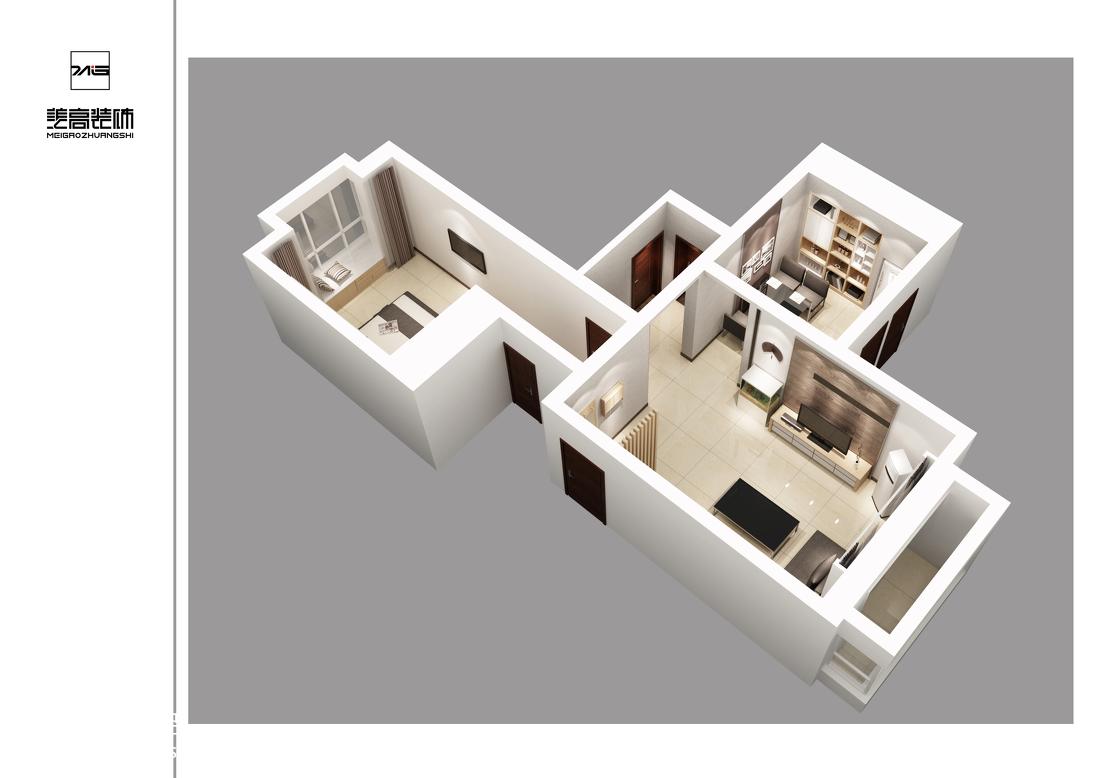 美式风格小户型家居客厅装饰效果图