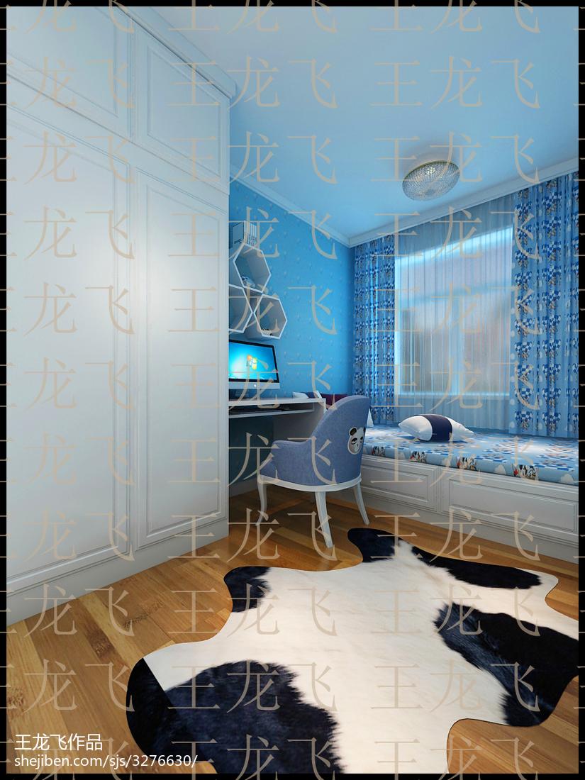 美式设计卧室隔断门效果图