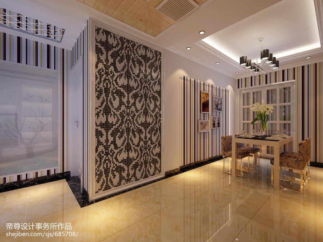 精选89平米二居餐厅现代效果图片欣赏