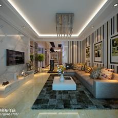 热门大小89平现代二居客厅装修效果图片欣赏
