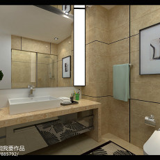 精美面积80平现代二居卫生间装饰图片大全