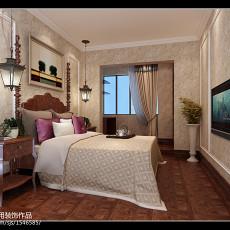 2018精选面积120平复式卧室美式装饰图