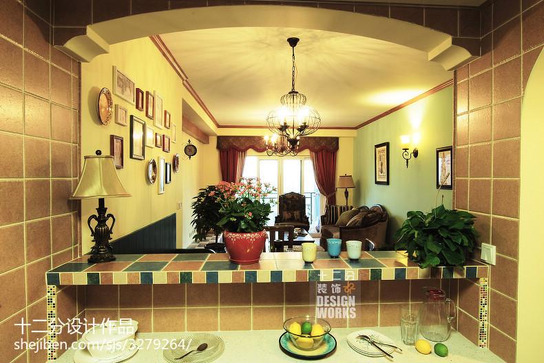 面积102平美式三居厨房效果图片大全