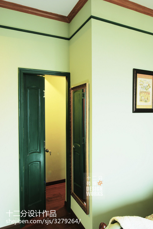 2018106平米三居卧室美式实景图片欣赏