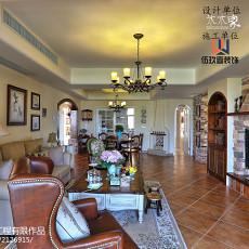 精选面积104平美式三居客厅装修实景图