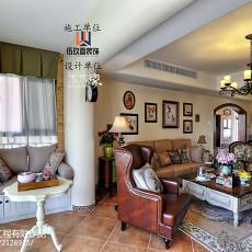 2018精选面积103平美式三居客厅装修效果图片大全
