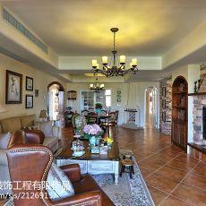 精选94平米三居客厅美式装修实景图片