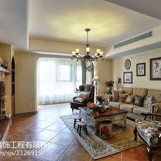 2018107平米三居客厅美式效果图片欣赏