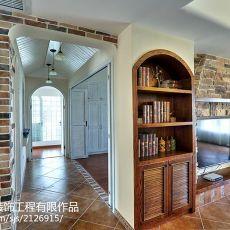2018精选面积99平美式三居客厅装修图片