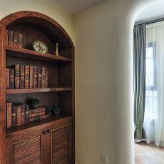 热门面积93平美式三居客厅装修效果图