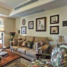 98平米三居客厅美式实景图