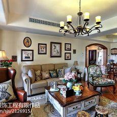 精美面积99平美式三居客厅装修欣赏图片