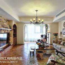 103平米三居客厅美式装饰图片