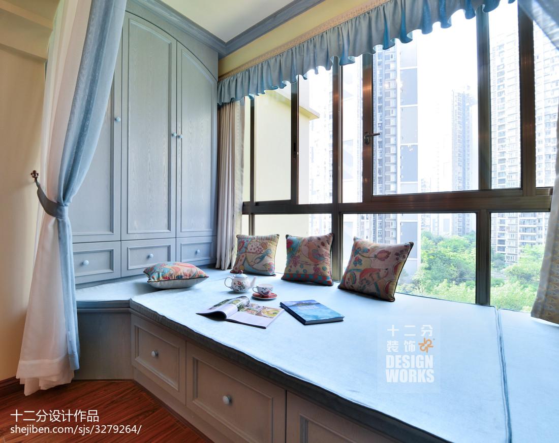 田園臥室飄窗裝飾裝修設計效果圖大全