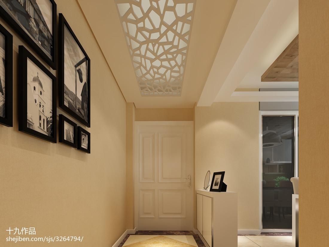 精选面积103平现代三居玄关装饰图片欣赏