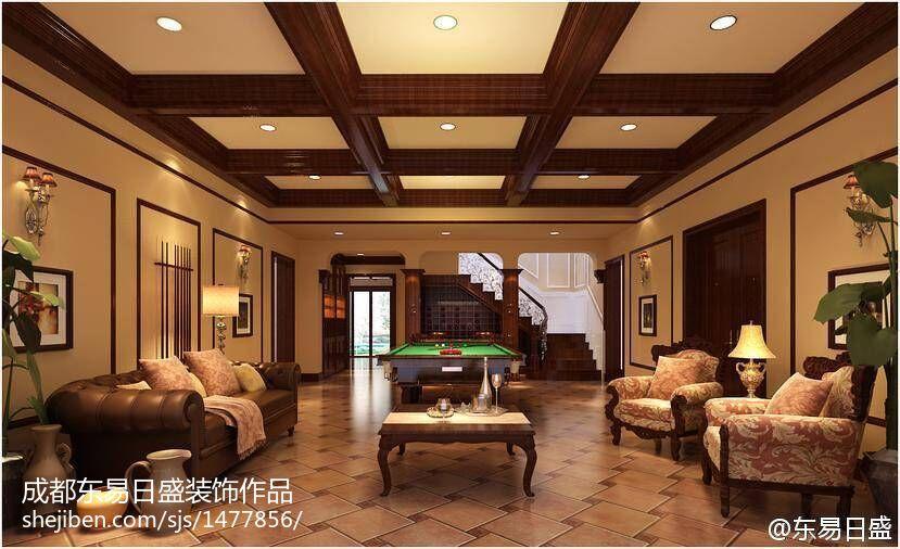 欧式奢华舒适客厅装修效果图