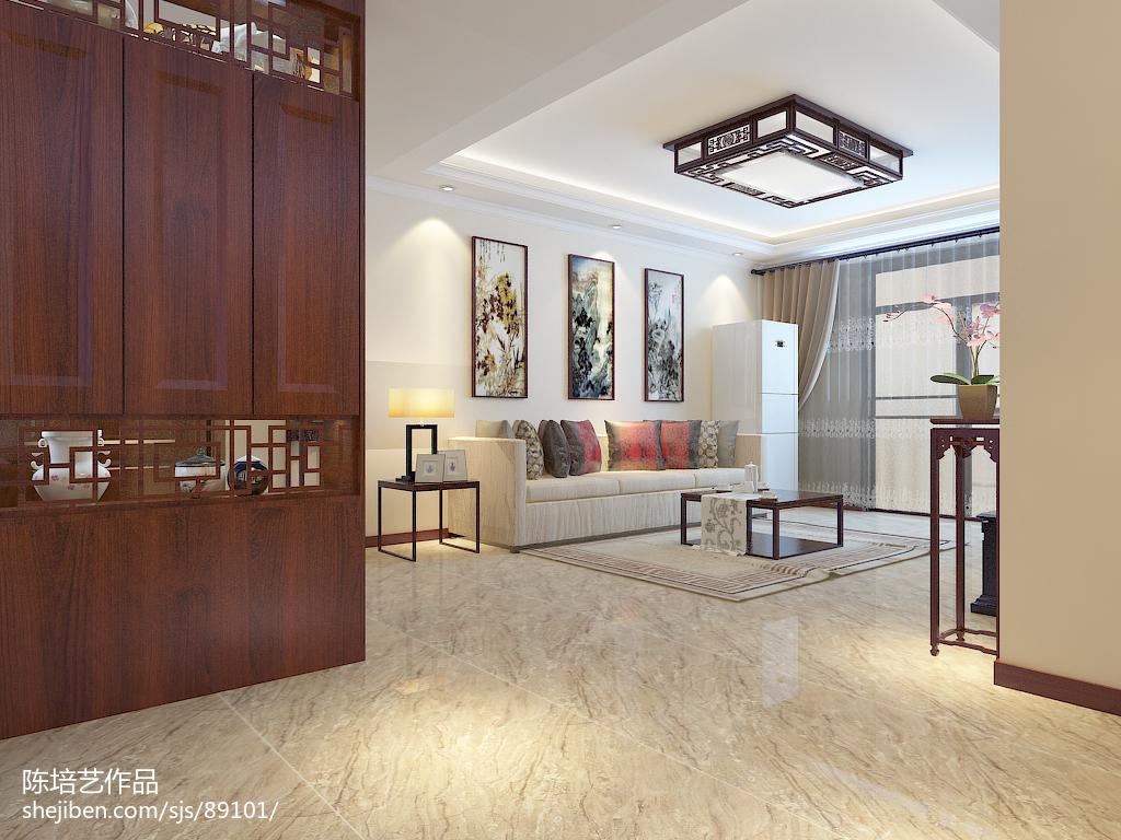 97平方三居客厅中式装修效果图片大全