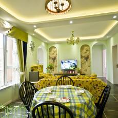热门104平米三居客厅田园欣赏图片