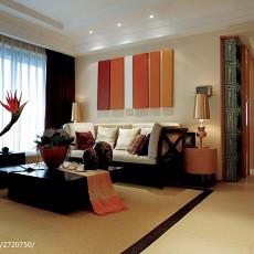 201893平米三居客厅东南亚装修设计效果图