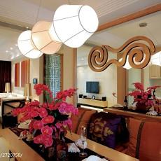 精选107平米三居餐厅东南亚实景图片