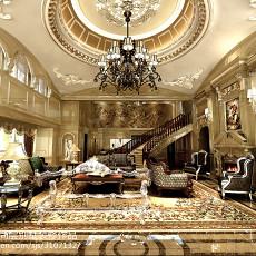 123平米美式别墅客厅效果图片