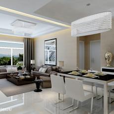 精美面积74平现代二居餐厅装修设计效果图片