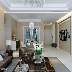 热门大小77平现代二居客厅实景图