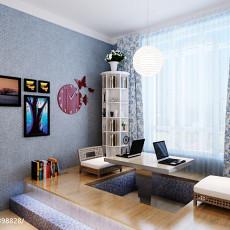 精美面积77平现代二居书房实景图片大全