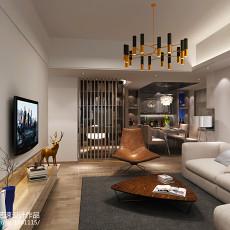 201890平方二居客厅现代设计效果图