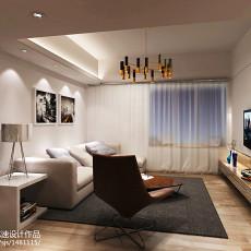 精美面积70平现代二居客厅效果图片