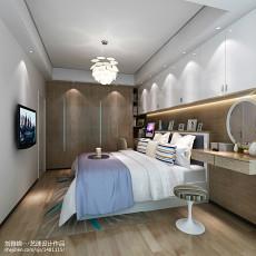 热门面积74平现代二居卧室装修图