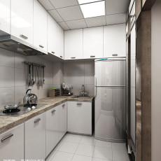 面积79平现代二居厨房装饰图片大全