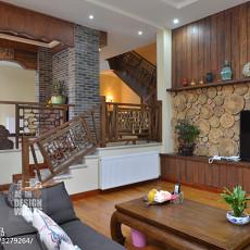面积128平别墅客厅中式装修效果图片欣赏