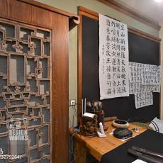 面积140平别墅书房中式装饰图片欣赏