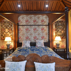 精美142平米中式别墅卧室装修欣赏图片大全