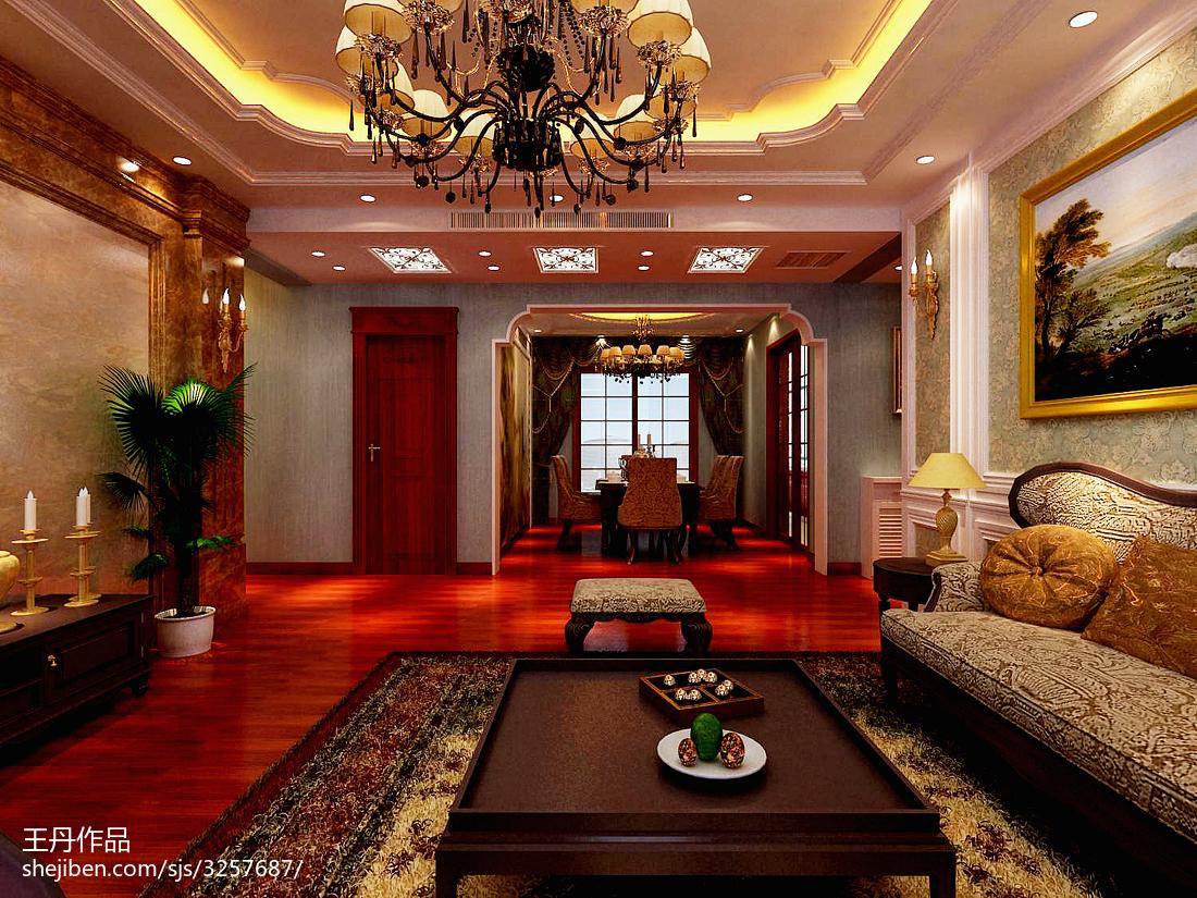 热门116平米四居客厅欧式装修欣赏图片
