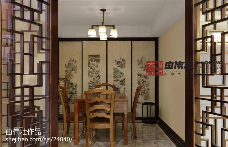 热门面积115平别墅休闲区中式装修图片欣赏
