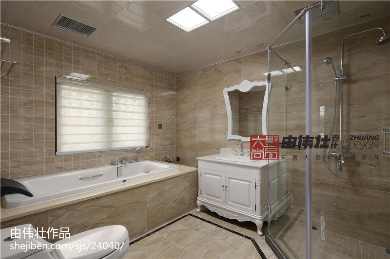 精美面积137平别墅卫生间中式装饰图